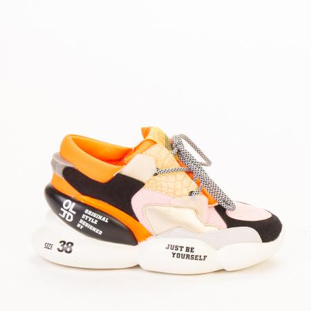Pantofi sport dama Live roz multicolor0