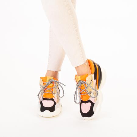 Pantofi sport dama Live roz multicolor1