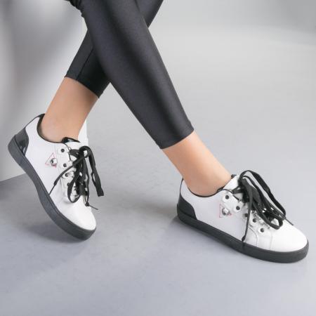 Pantofi sport dama Lucille albi2