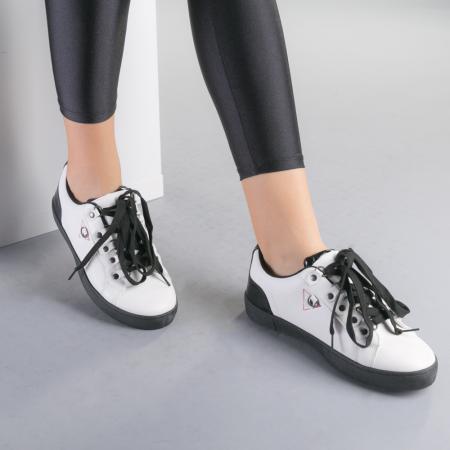 Pantofi sport dama Lucille albi1