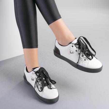 Pantofi sport dama Lucille albi3