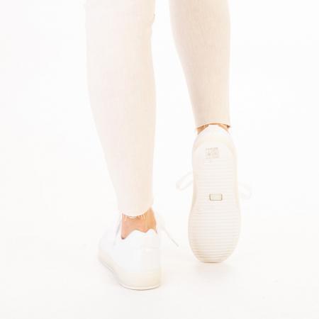 Pantofi sport dama Luela albi3