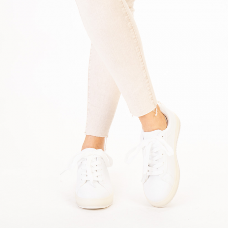 Pantofi sport dama Luela albi1