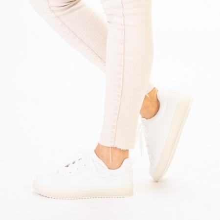 Pantofi sport dama Luela albi2