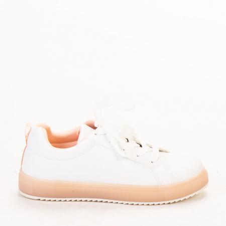Pantofi sport dama Luela albi cu roz0