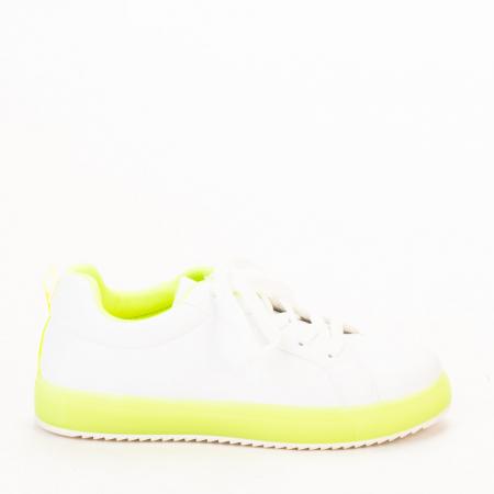 Pantofi sport dama Luela albi cu verde0