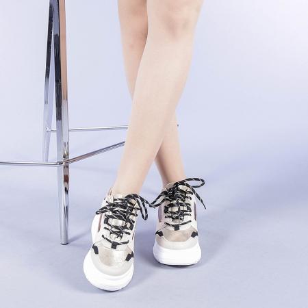 Pantofi sport dama Malini bej1