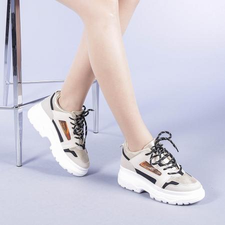 Pantofi sport dama Malini bej2