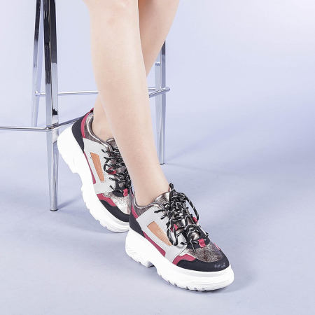Pantofi sport dama Malini rosii2
