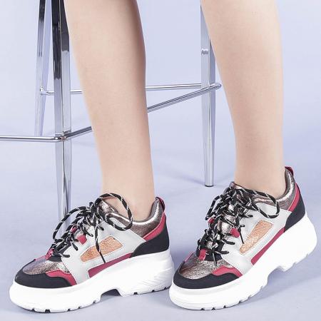 Pantofi sport dama Malini rosii0