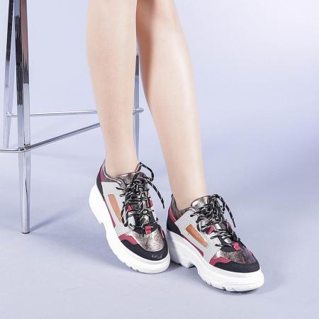 Pantofi sport dama Malini rosii1