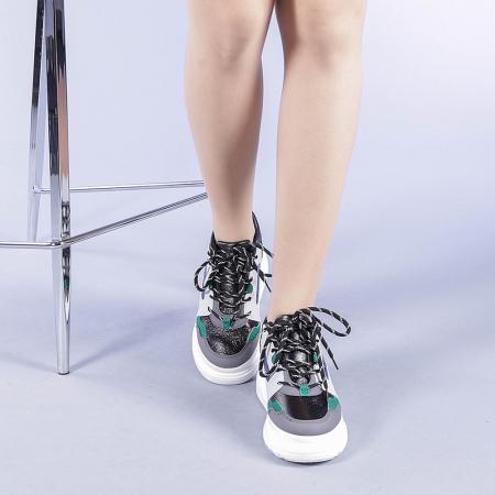 Pantofi sport dama Malini verzi1