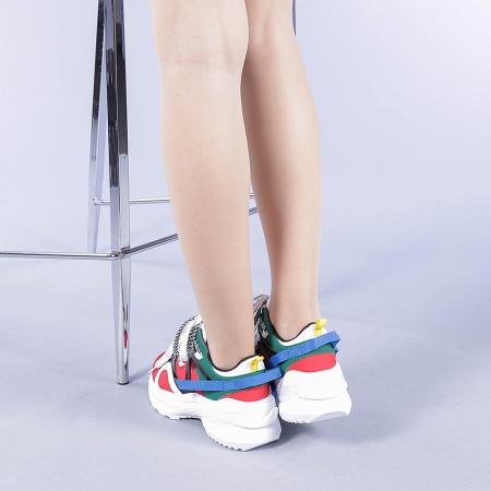 Pantofi sport dama Marilena rosii3