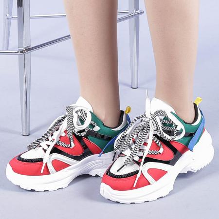 Pantofi sport dama Marilena rosii0