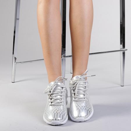 Pantofi sport dama Marmaid argintii1