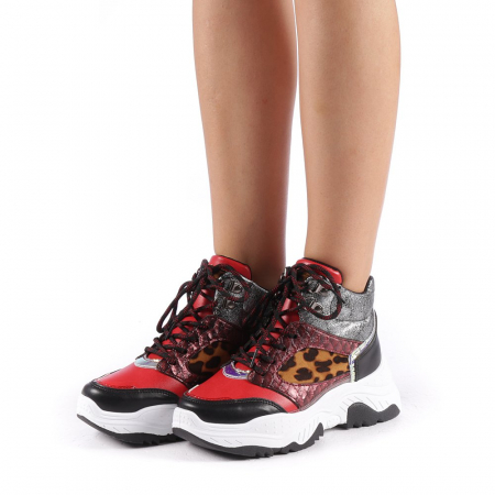 Pantofi sport dama Maryam rosii1