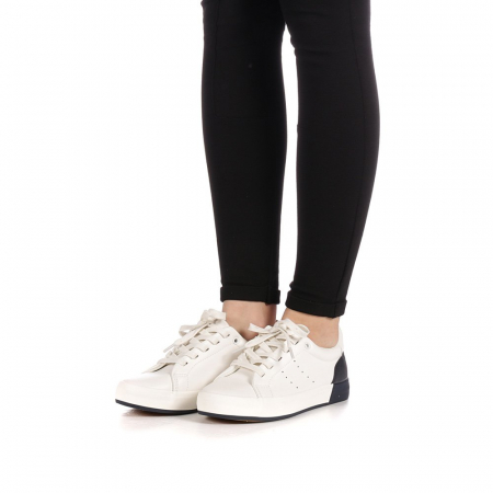Pantofi sport dama Melgar albi cu navy2