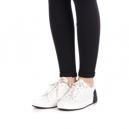 Pantofi sport dama Melgar albi cu negru2