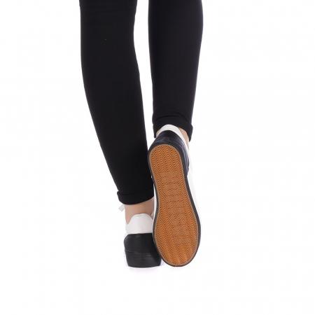 Pantofi sport dama Melgar albi cu negru3
