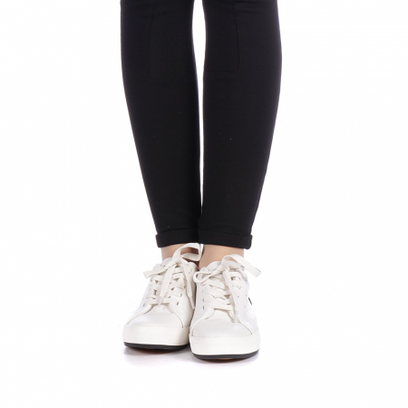 Pantofi sport dama Melgar albi cu negru4