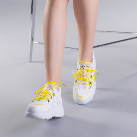 Pantofi sport dama Naomi albi3