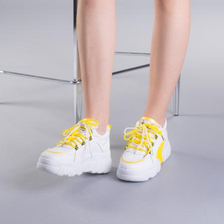 Pantofi sport dama Naomi albi2
