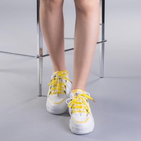 Pantofi sport dama Naomi albi1
