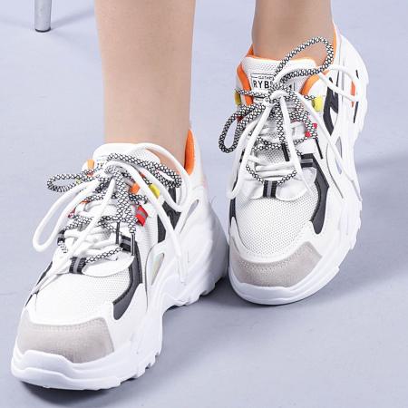 Pantofi sport dama Neena portocalii0