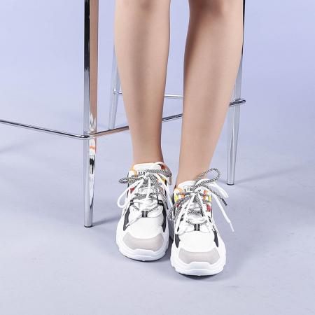 Pantofi sport dama Neena portocalii1