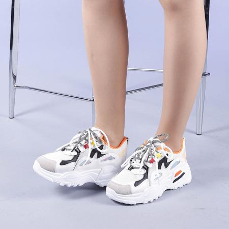 Pantofi sport dama Neena portocalii2