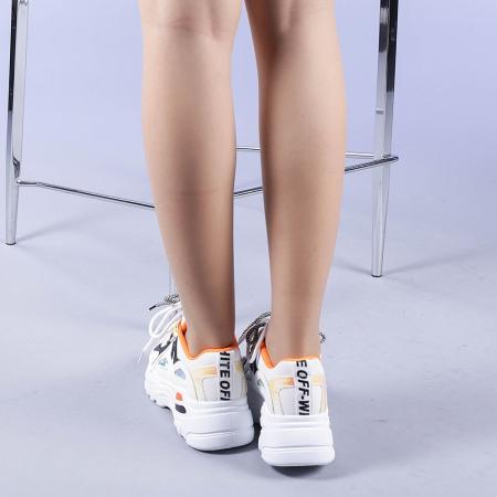 Pantofi sport dama Neena portocalii3