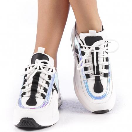 Pantofi sport dama Nikol albi4