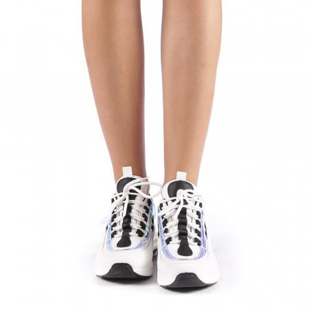 Pantofi sport dama Nikol albi3