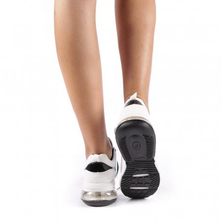 Pantofi sport dama Nikol albi2