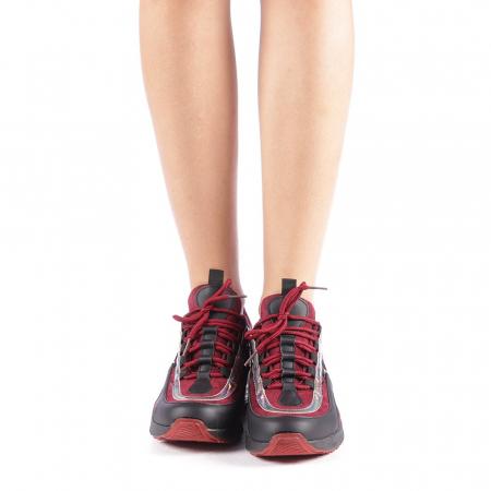 Pantofi sport dama Nikol grena3