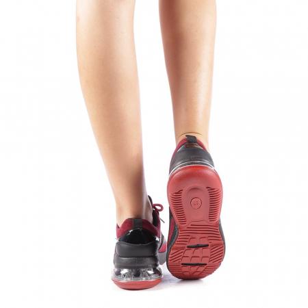Pantofi sport dama Nikol grena2