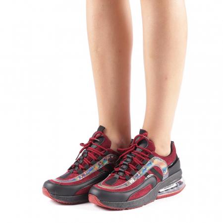 Pantofi sport dama Nikol grena1