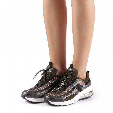 Pantofi sport dama Nikol verzi1