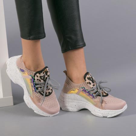 Pantofi sport dama Noha roz3