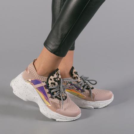 Pantofi sport dama Noha roz1