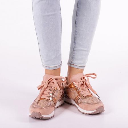 Pantofi sport dama Olena roz3