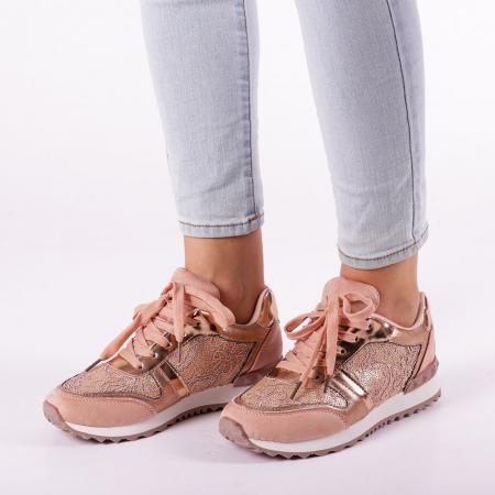 Pantofi sport dama Olena roz1