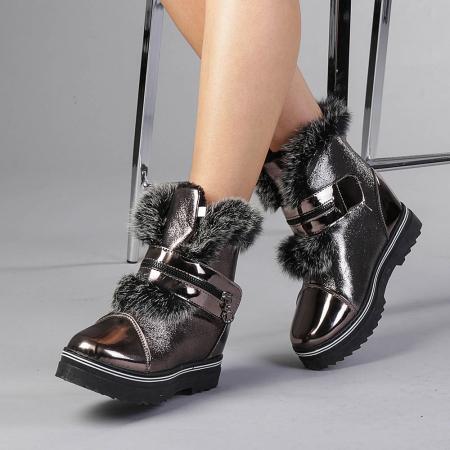 Pantofi sport dama  Olive bronz0