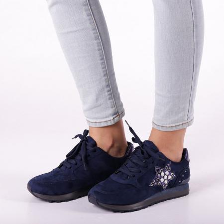 Pantofi sport dama Onora albastri3