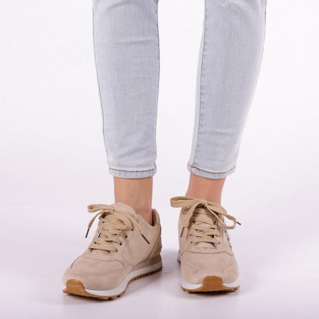 Pantofi sport dama Onora bej5