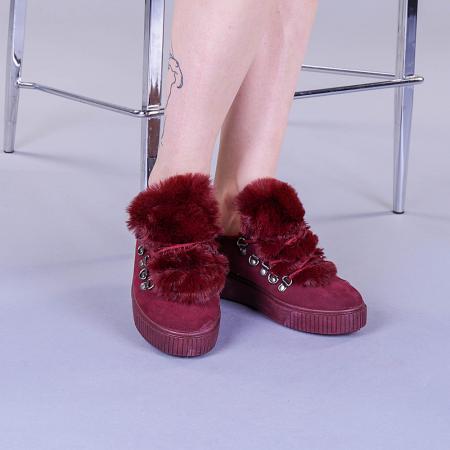 Pantofi sport dama Pamela grena1