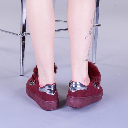 Pantofi sport dama Pamela grena3