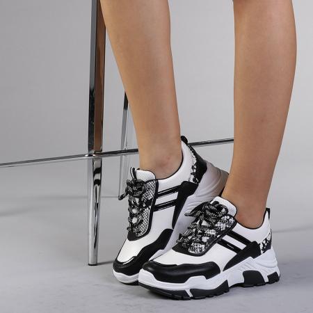 Pantofi sport dama Paolina albi2