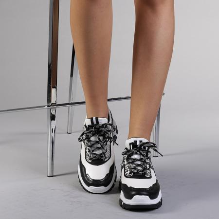Pantofi sport dama Paolina albi1