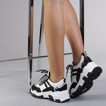 Pantofi sport dama Paolina albi3